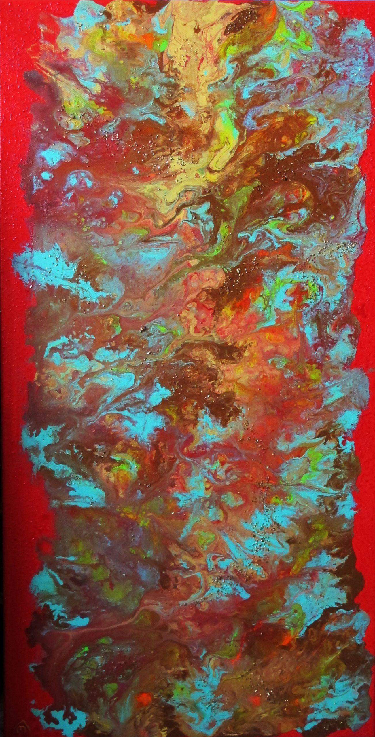 abstrait bleu marron