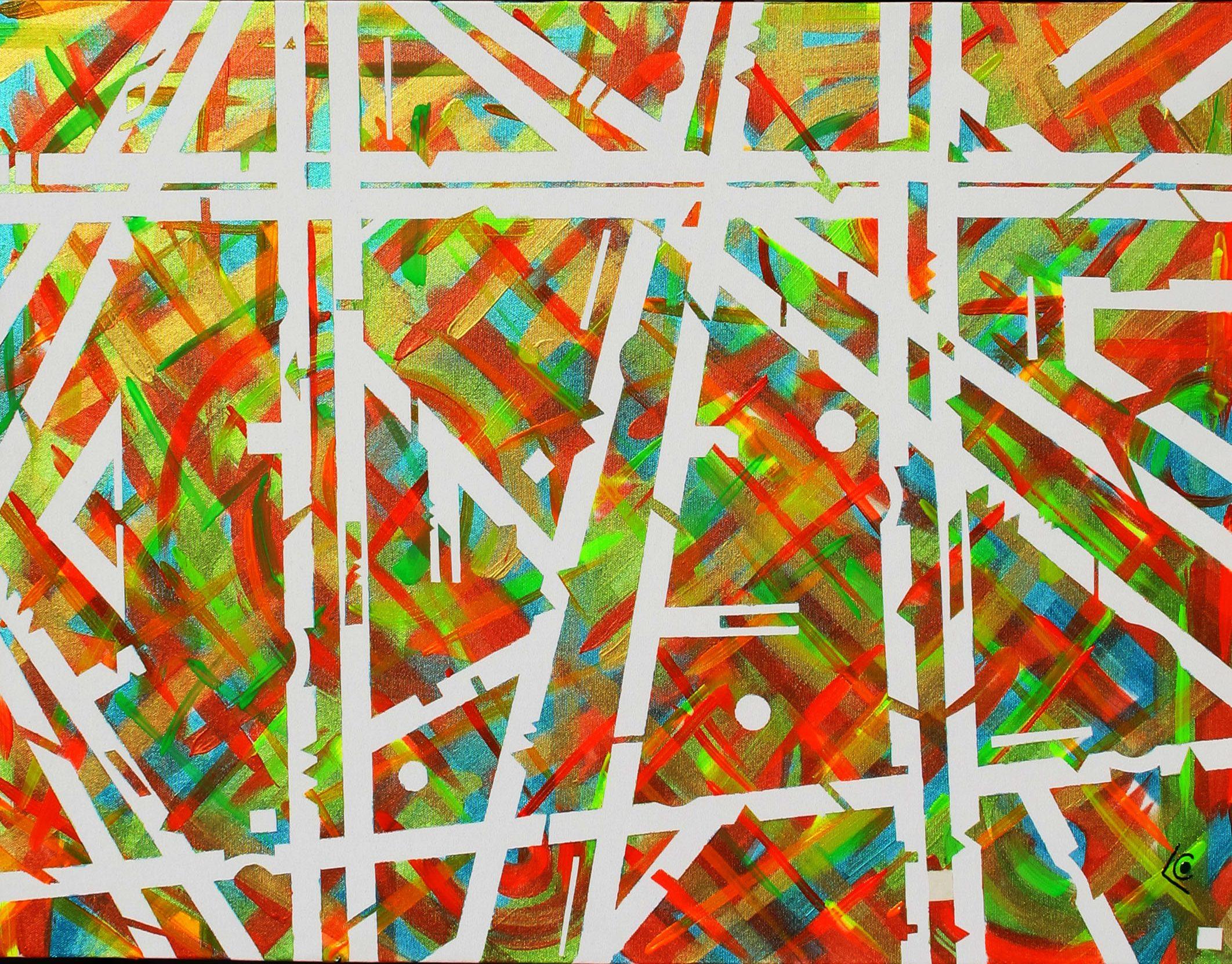 abstrait lignes verticales