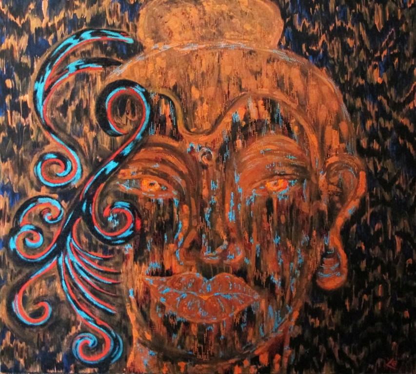 Buddha fond noir