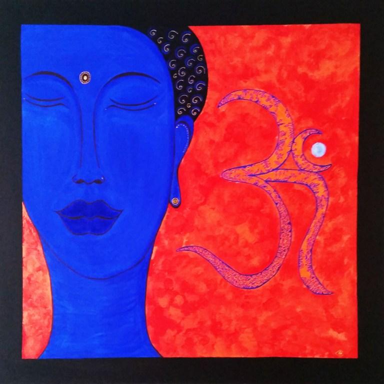 buddha bleu chantal vieira