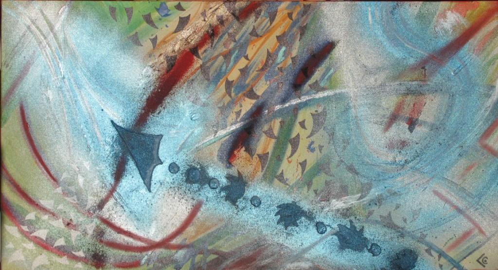 abstrait fleche bleue