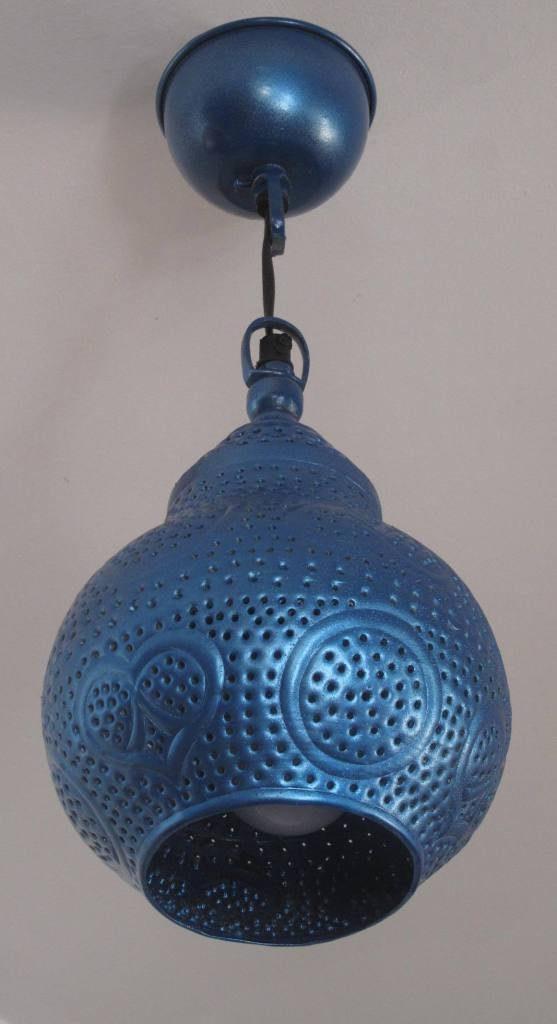 applique plafond bleu metallisé