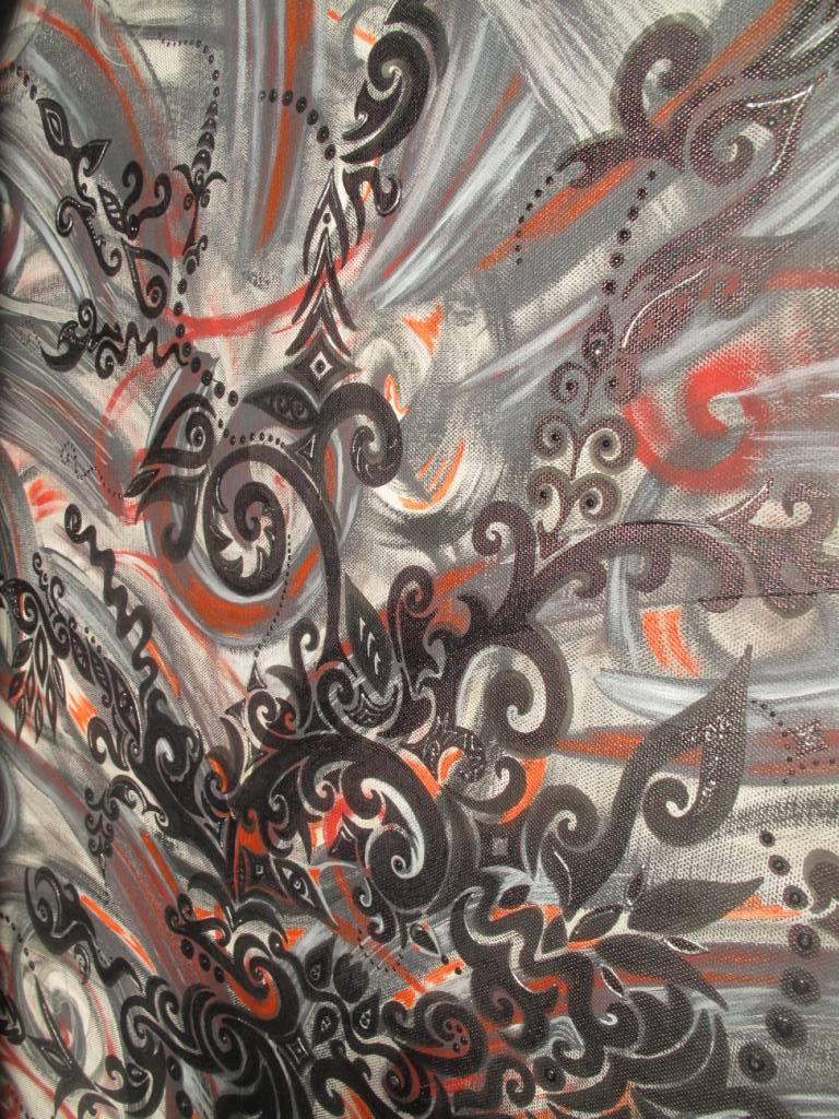detail abstrait noir gris et rouge