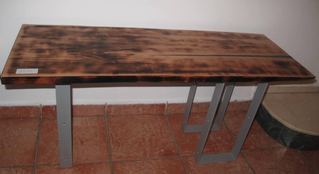 table basse bois massif led